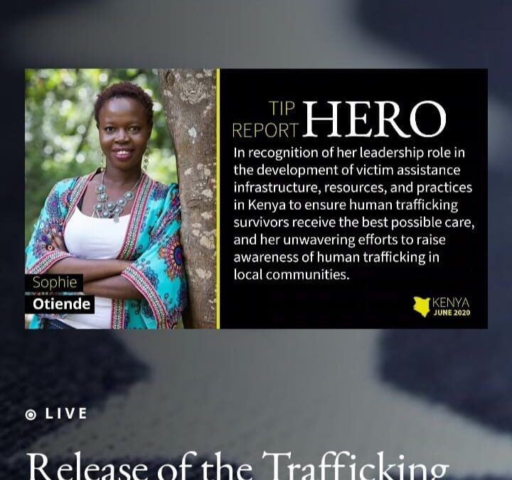 Trafficking in Persons Report Hero 2020 – Sophie Otiende